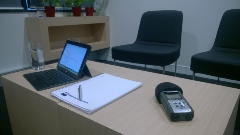 Qualitative Research Set up with the Zoom H4n